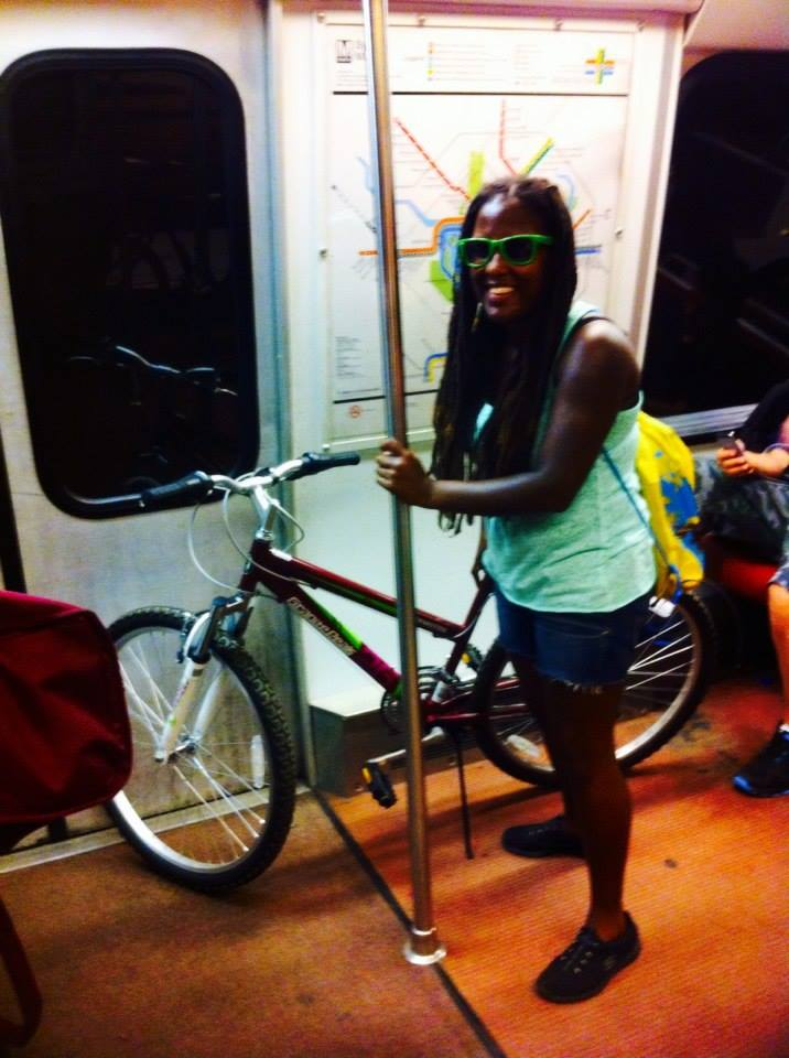 Bringing my bike on the train. Not actually as bad as I thought. If only I could have sat down. I was so zapped of energy.